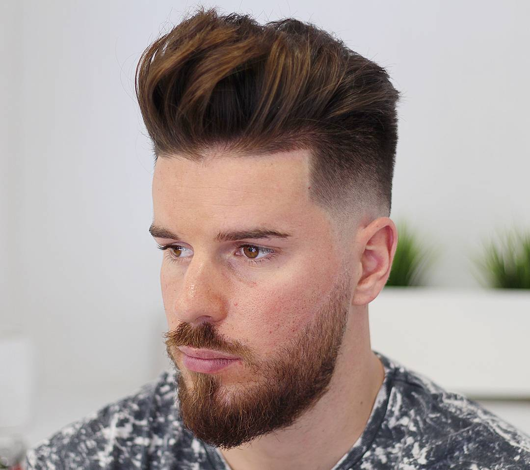 agusdeasis pompadour hairstyle taper fade mens haircuts
