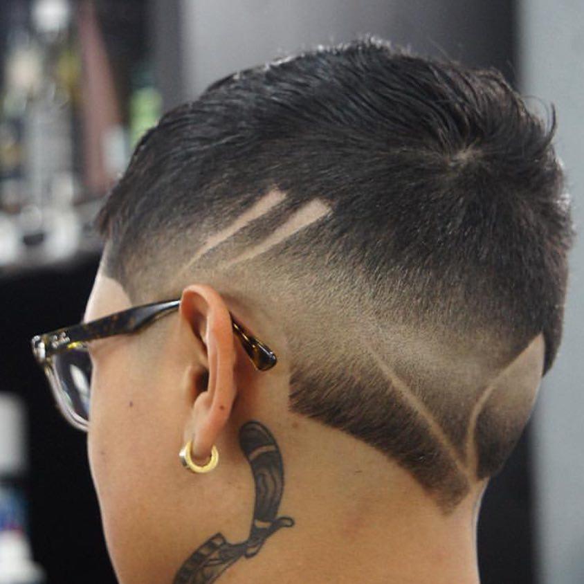 artoffades407 rozor line shaved line burst fade mens haircuts neck design neckline hair