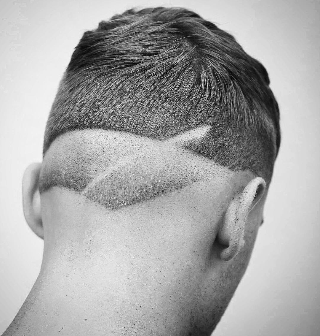 barber.josh.o.p hair tattoo shaved line mens haircuts neck design neckline hair