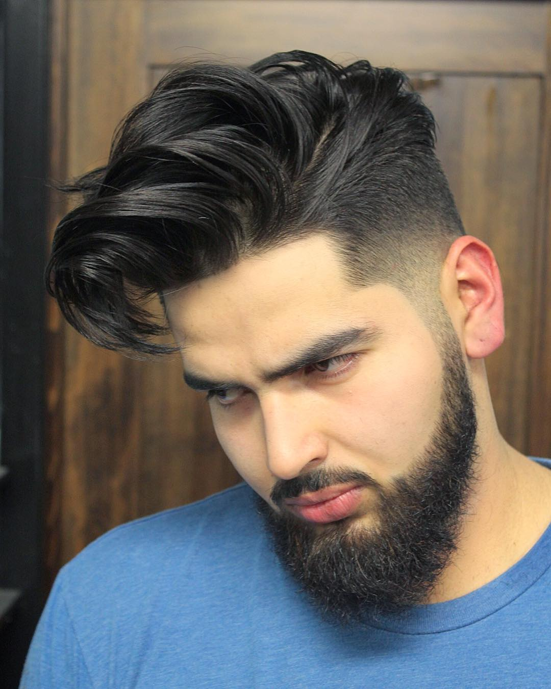 barbermikethomas medium length with beard cool haircuts for mens with thick hair