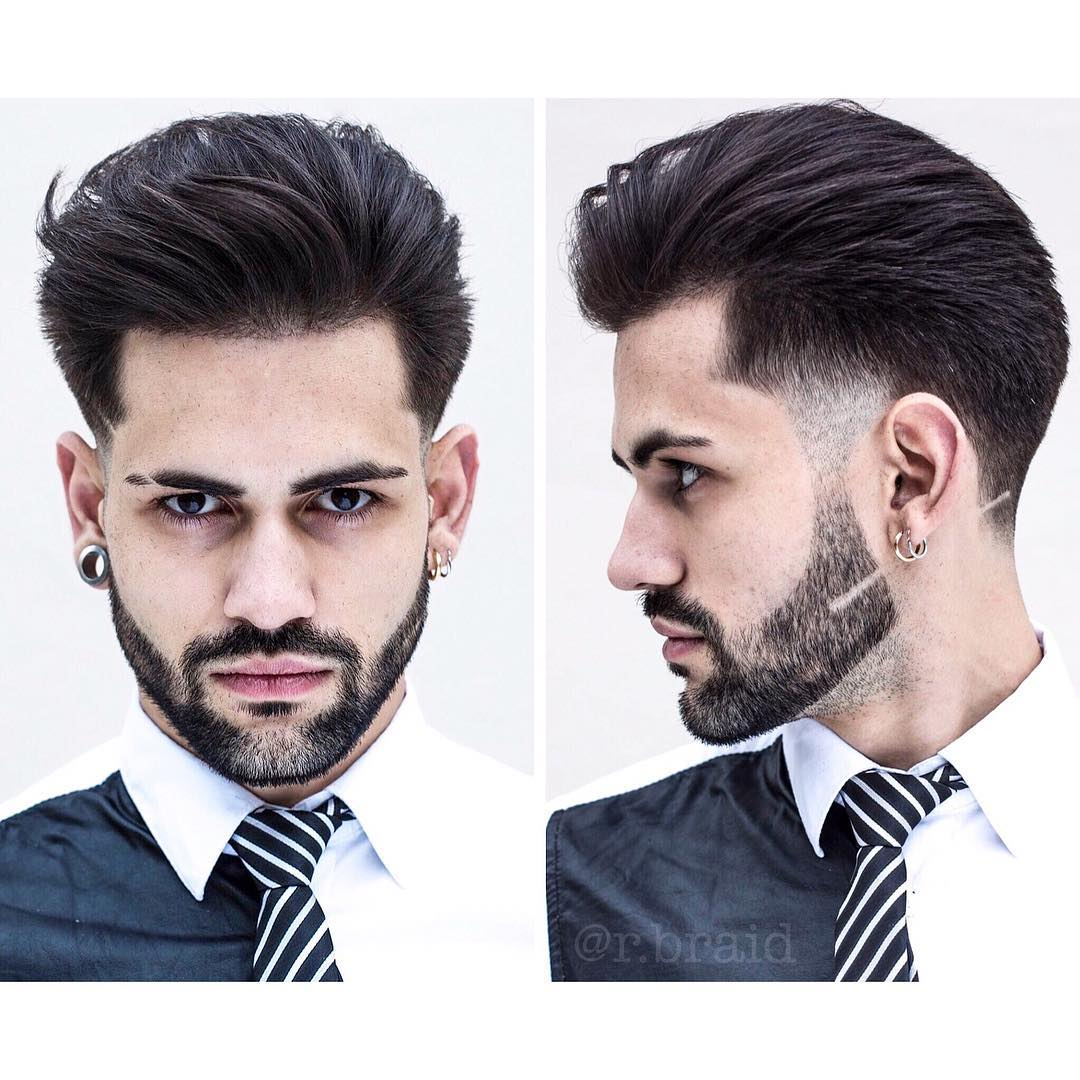 braidbarbers the gentleman haircut with beard medium length haircuts 2018