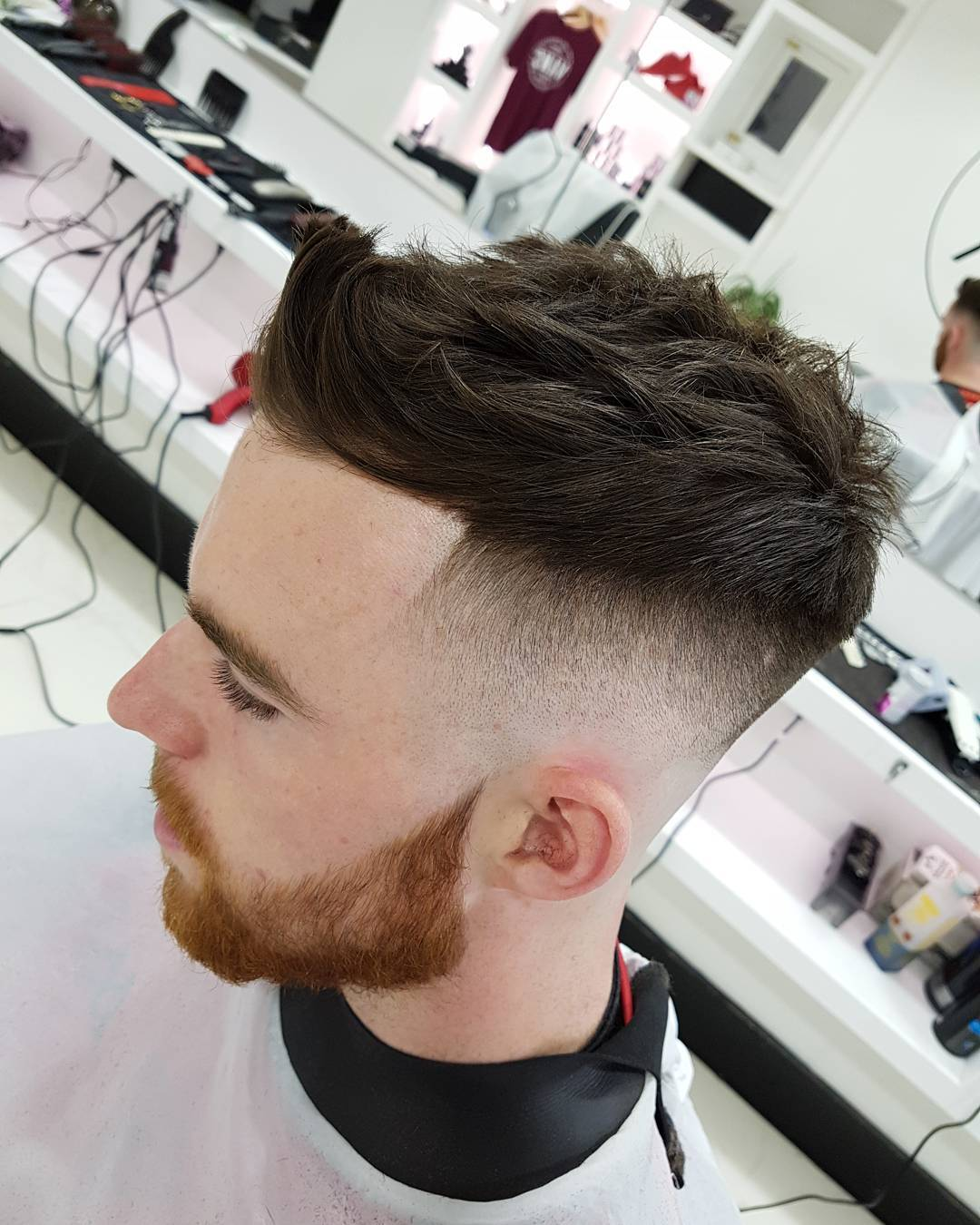 caolamohare short textured with slicked back cool haircuts for mens with thick hair