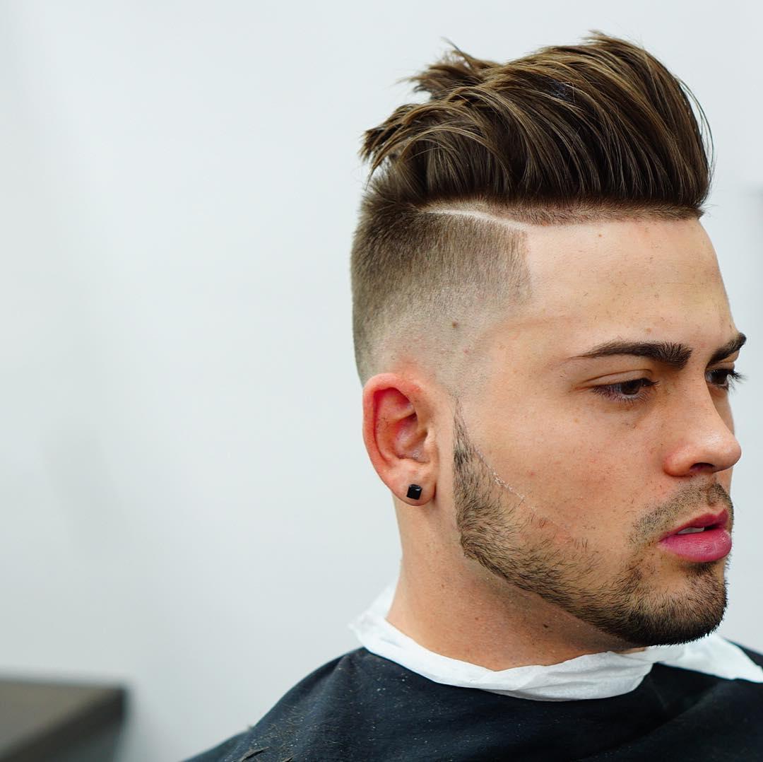 criztofferson high fade pompadour high mens haircuts