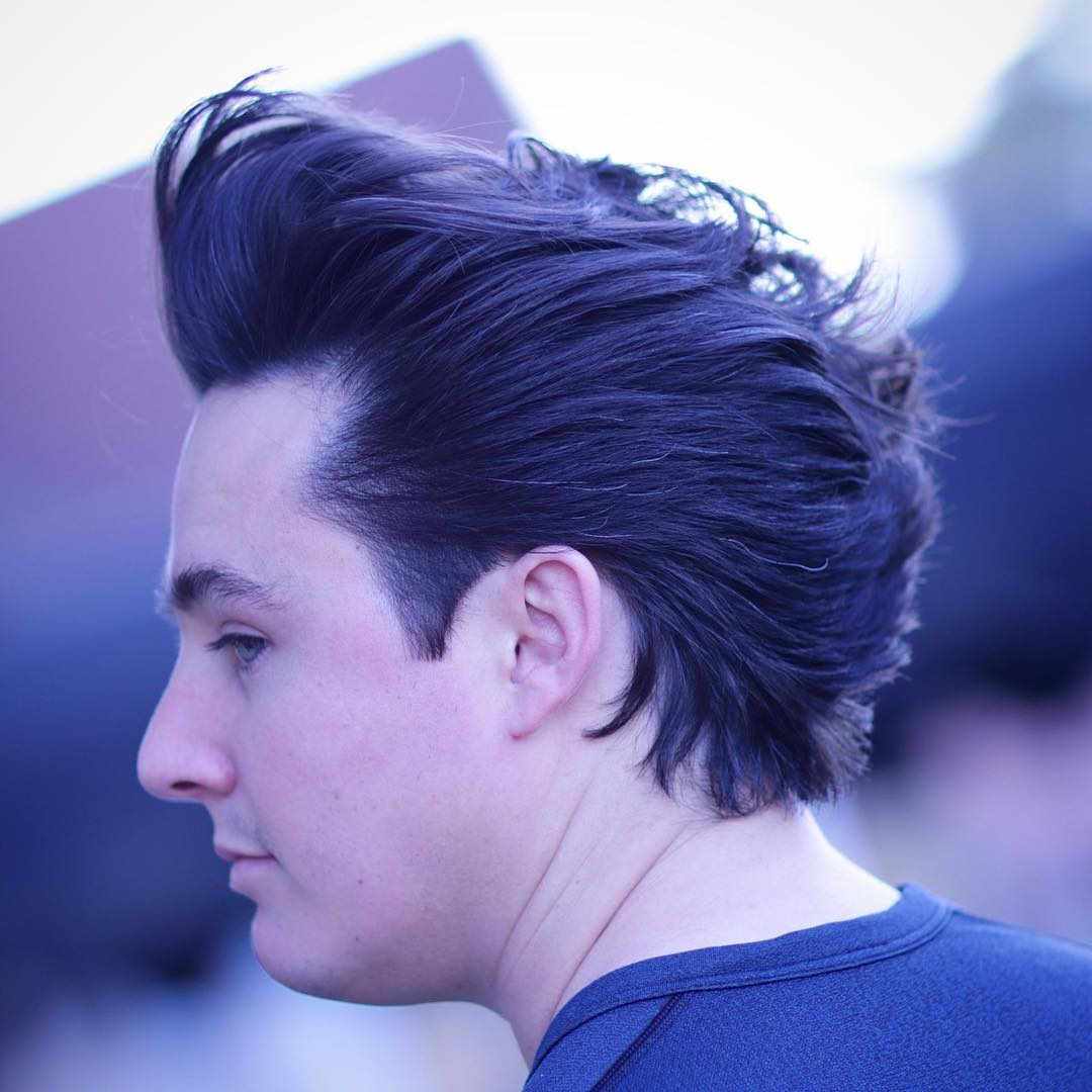 cutsbycameron medium length pomp Popular The Pompadour Haircut