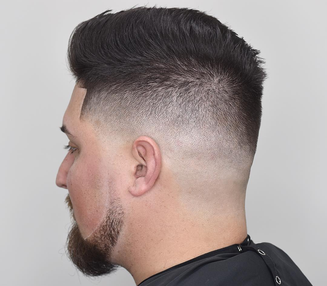 drewdabarber comb over high skin fade haircut line up cool haircuts for mens with thick hair