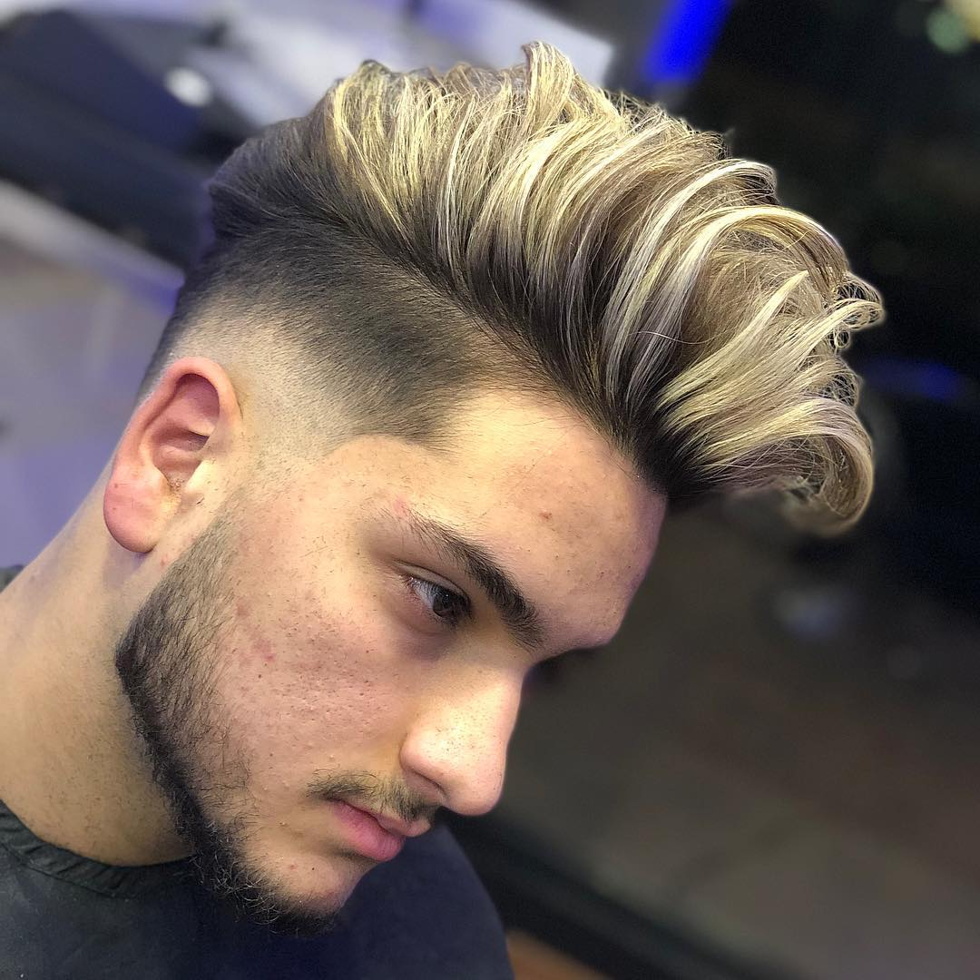 egobarbers golden pomp fade low fade line up long hairstyles for men 2018