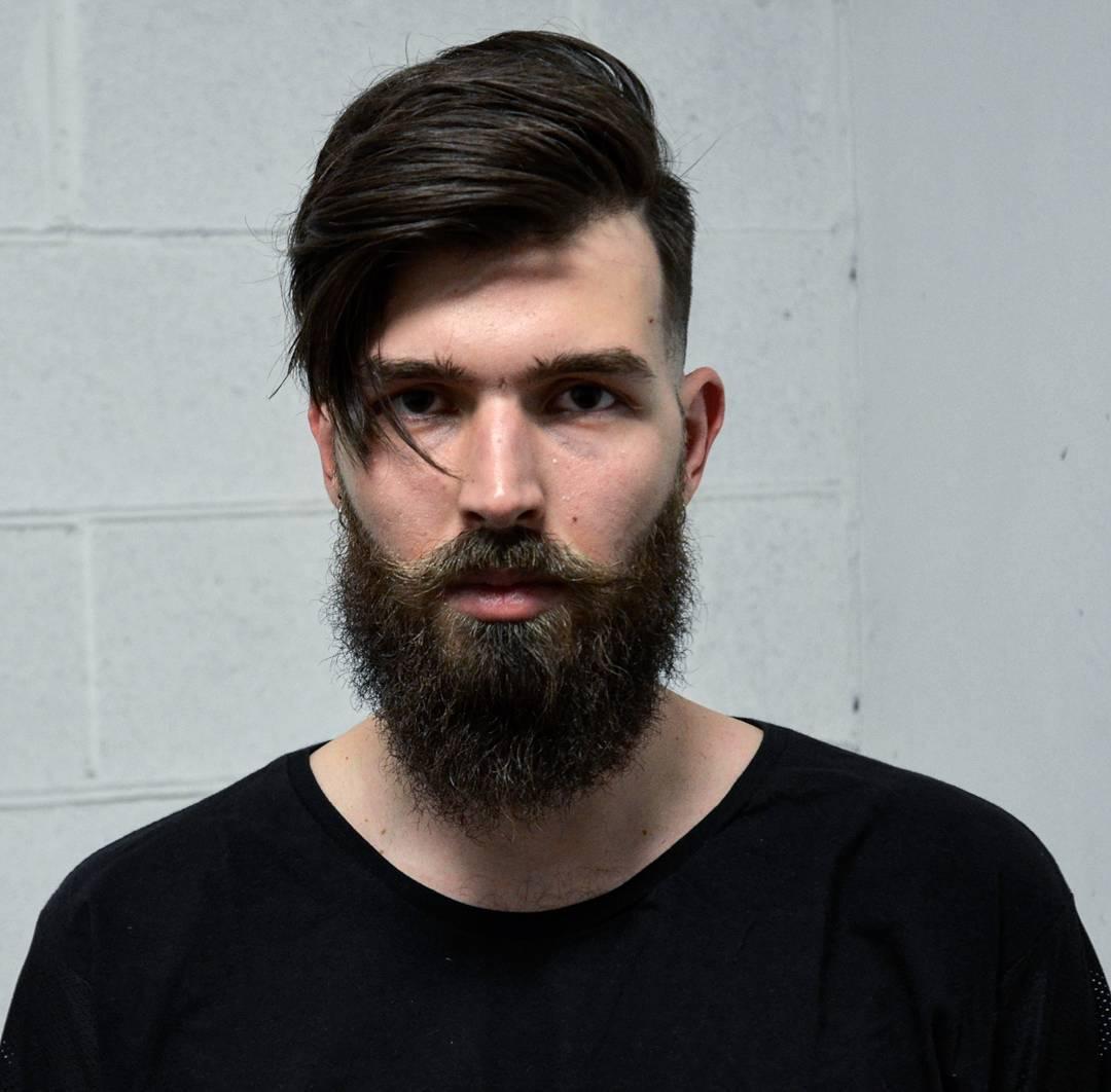 emilio_wrk pomp beard medium length hair mens haircuts