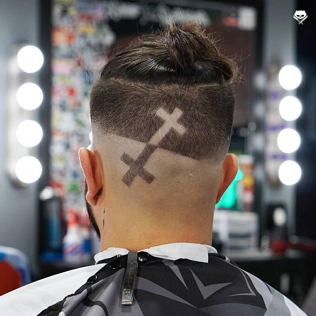 jubei_ma man bun bald fade mirror design latest mens hairstyles 2018