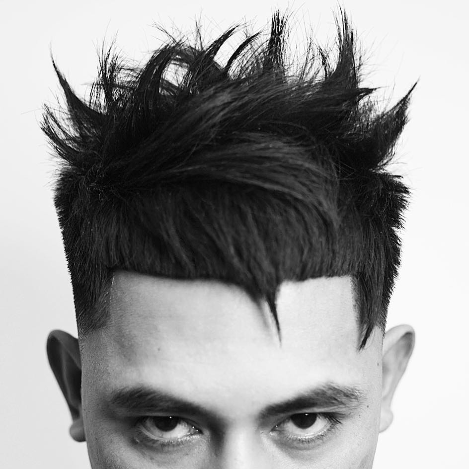 juliuscaesar evil vampire hairstyle spiky line-up mens haircuts