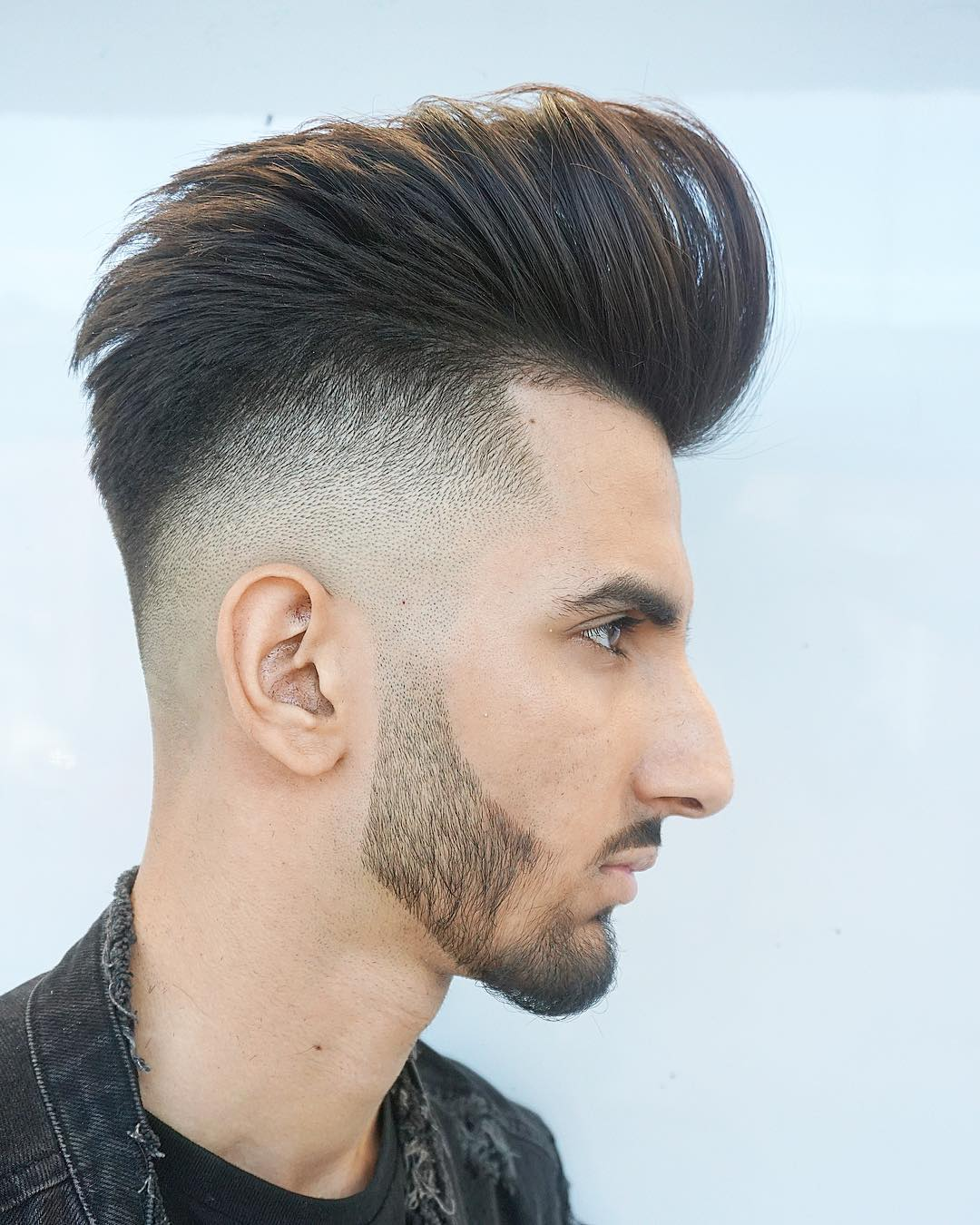 menspiresalon drop fade tall pompadour long hairstyles for men 2018