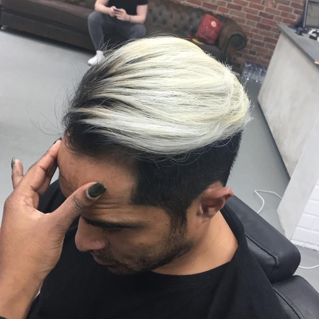mokumbarbers color short pomp fade long hairstyles for men 2018