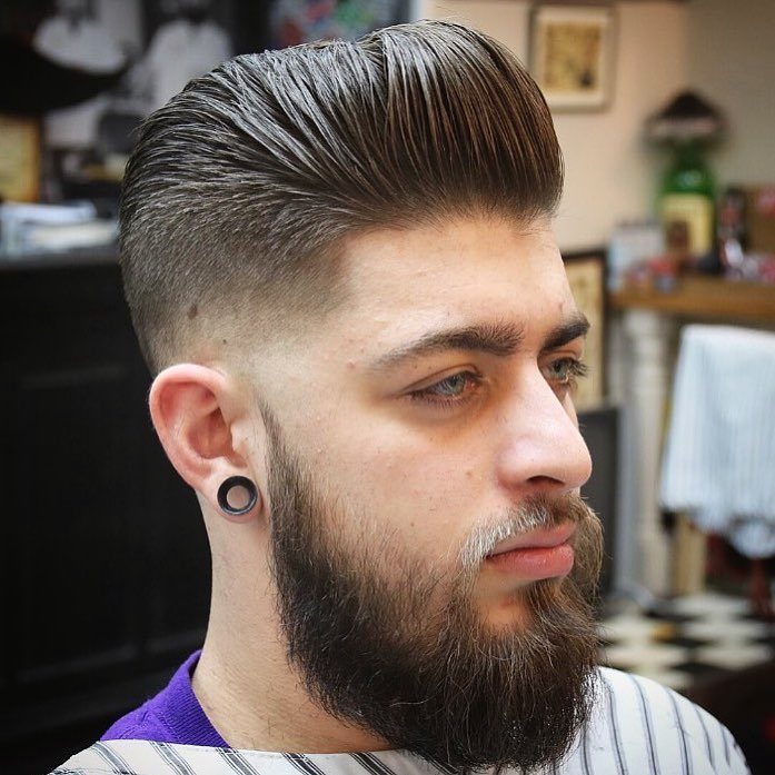 reuzel high textured pompadour best hairstyle for men the gentleman haircut