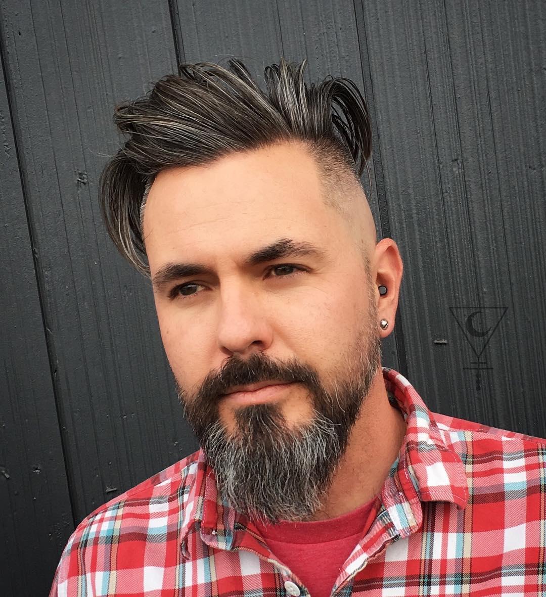 riahmai medium length quiff side part high fade side part haircuts 2018