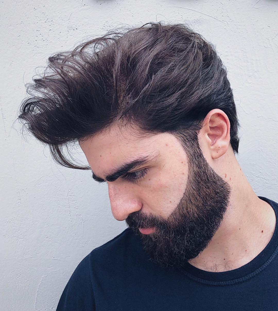 seuelias styled beard line up desigh mens haircuts