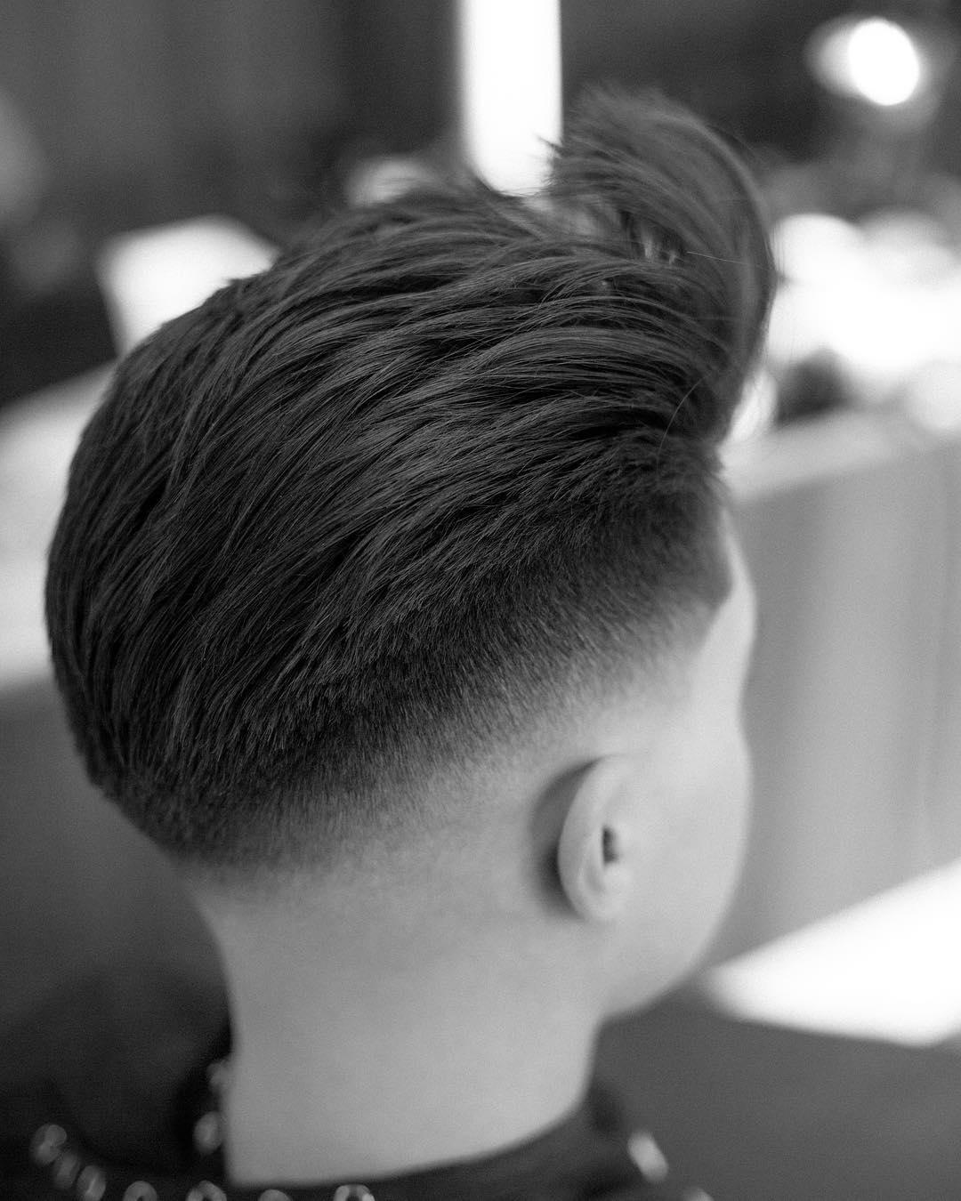 stephenj.barber drop fade bald fade side part haircuts 2018