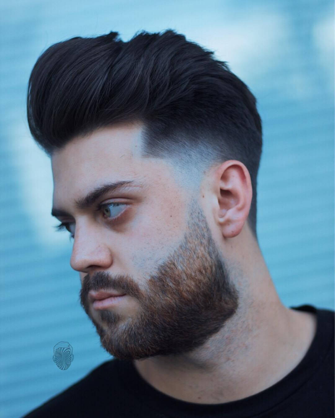travisanthonyhair low fade beard Popular The Pompadour Haircut