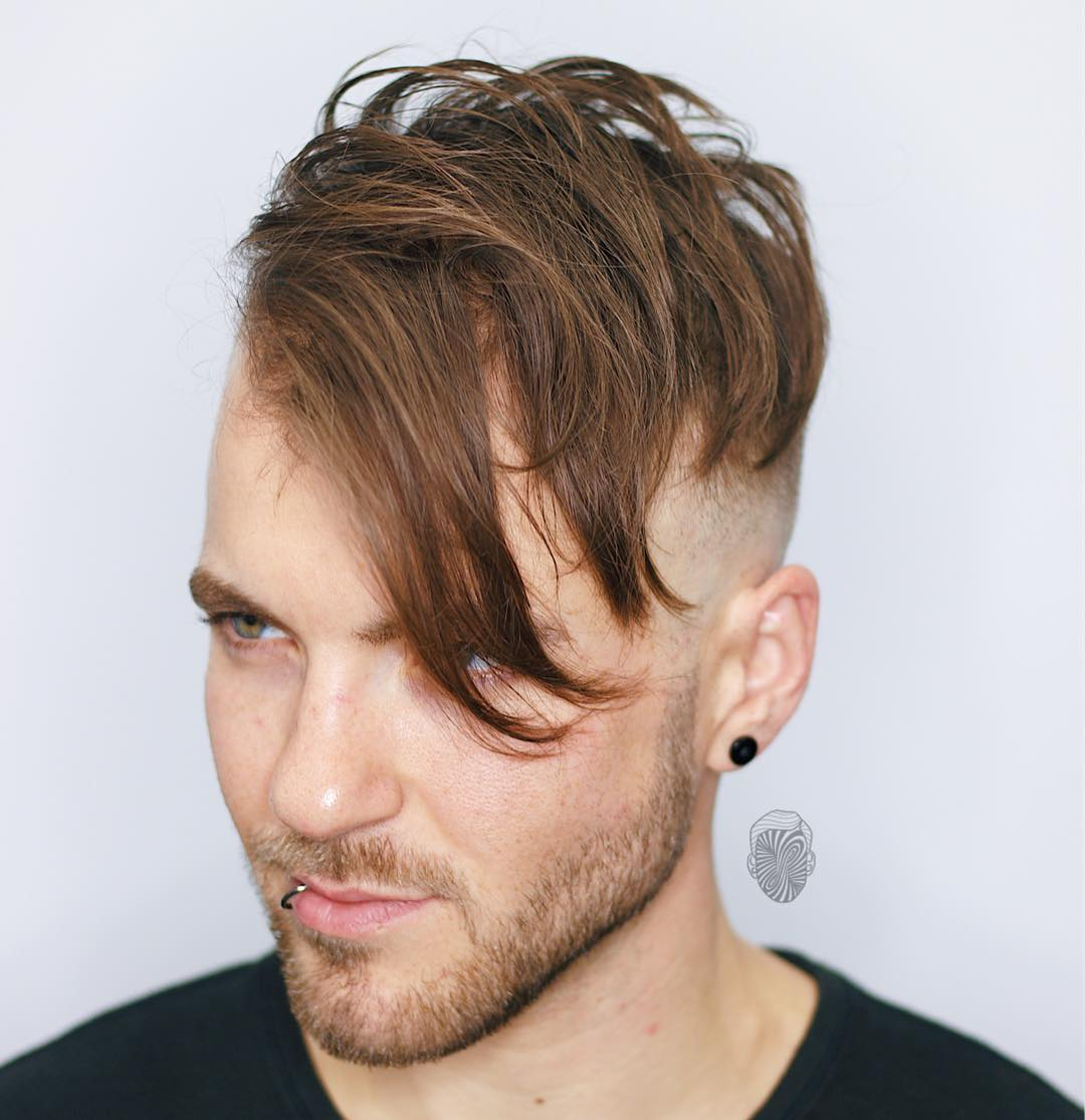 travisanthonyhair medium length hairstyle side part haircut latest mens hairstyles 2018