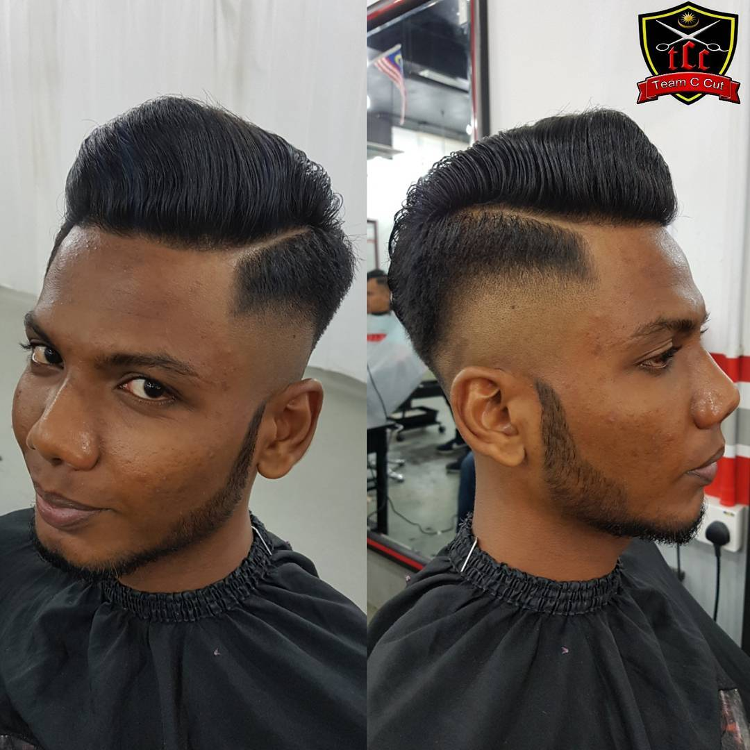 yanitcc Greaser Pomp high fade Popular The Pompadour Haircut