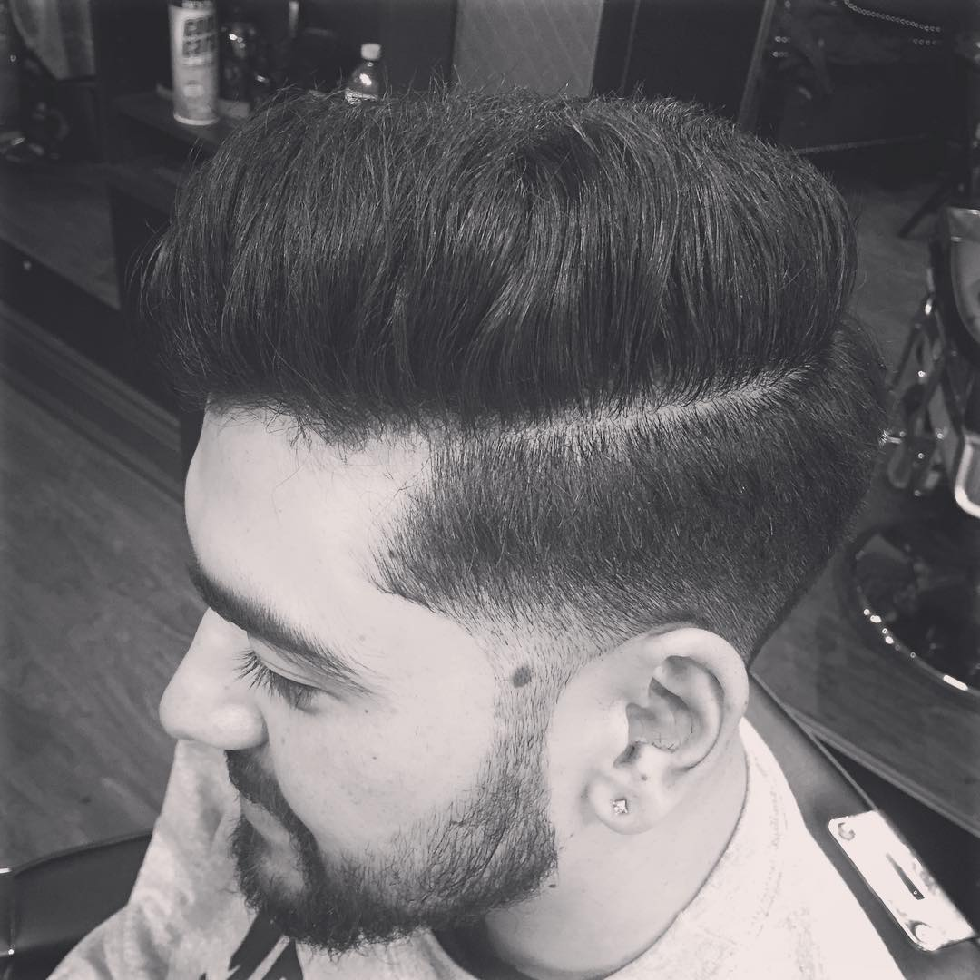yourbarbergigi pompadour with low fade cool haircuts for mens with thick hair