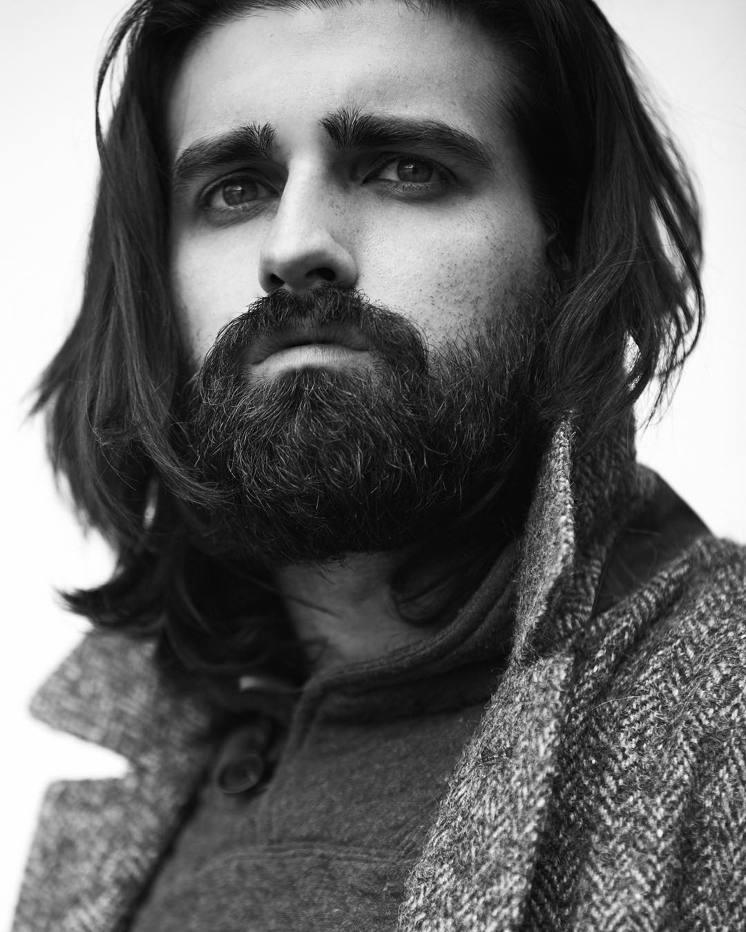 hahajoel long hairstyles for men beardman beard styles for men
