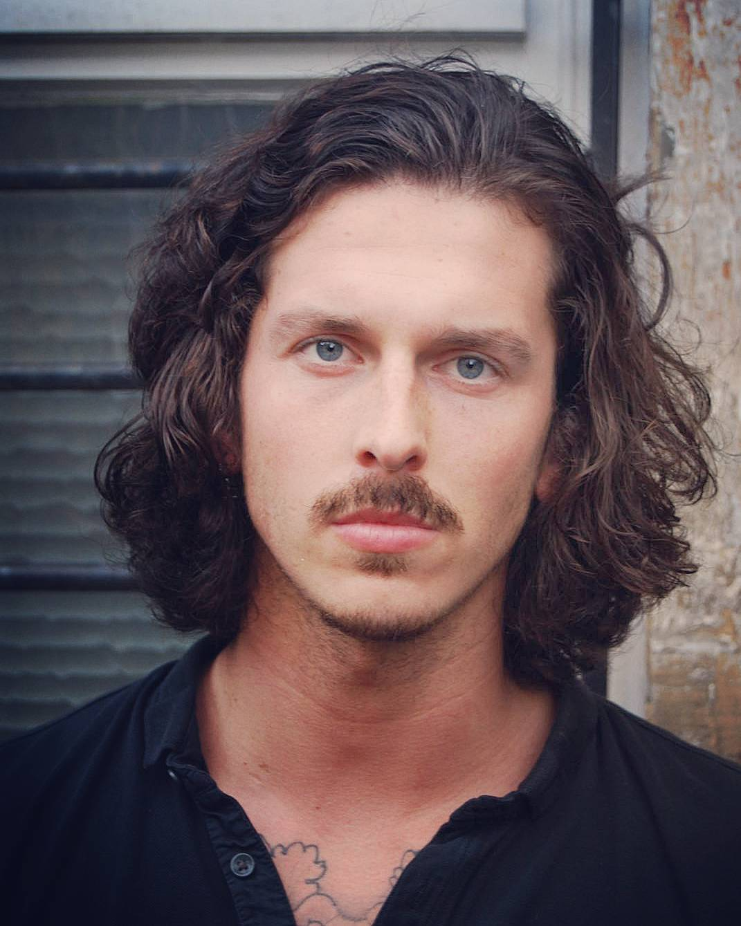 kilianmaddison cool long hairstyles for men with mustache gentleman hairstyle