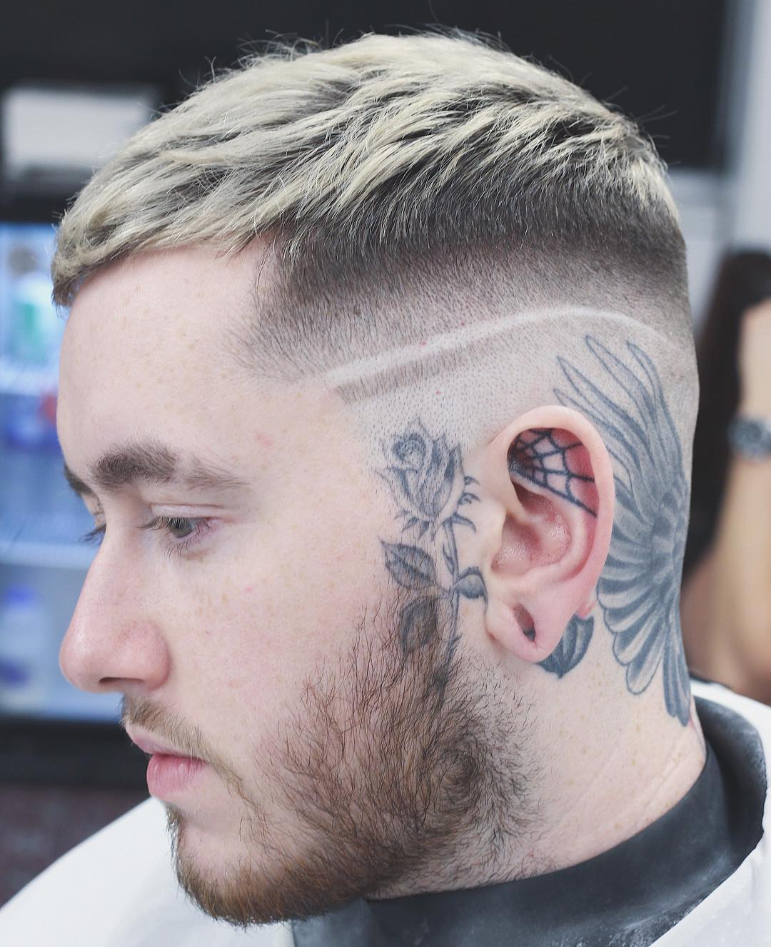nomadbarberldn shaved line side part simple Mens Hairstyles For Thin Hair