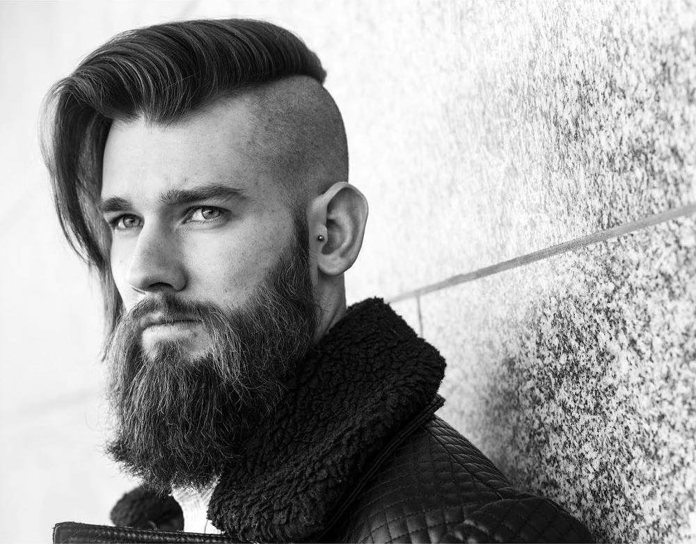 r.braid latest side part haircuts high fade haircut with beard mustache mens hairstyles for long hair
