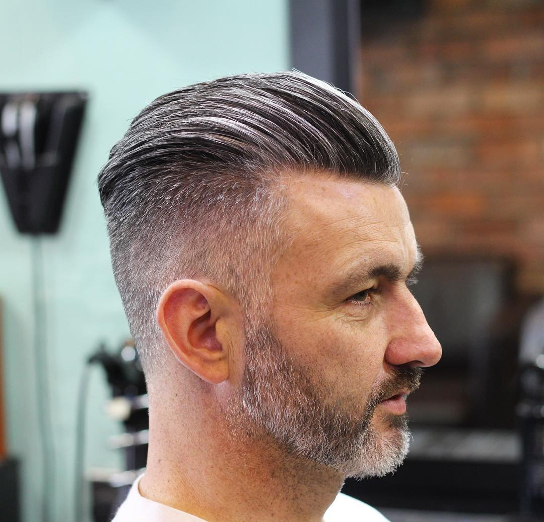 hideoutbarber Mens Medium Length Hairstyles slick back