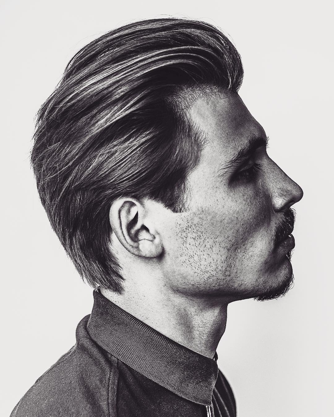 mattyconrad Mens Medium Length Hairstyles old style pompadour