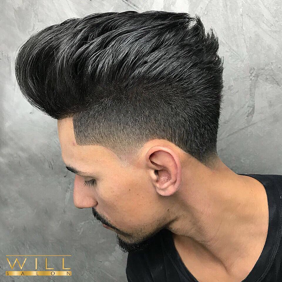 willsalon high pomp Mens Medium Length Hairstyles