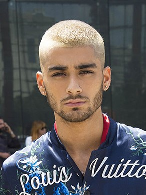 zayn malik hairstyle 2017 in paris fashion show