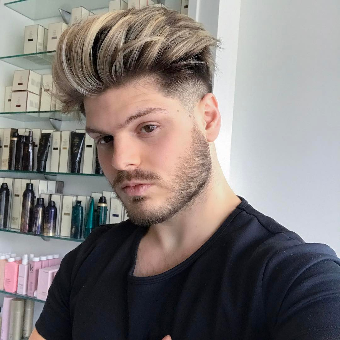 anthonydelucv cool blonde pompadour haircut popular