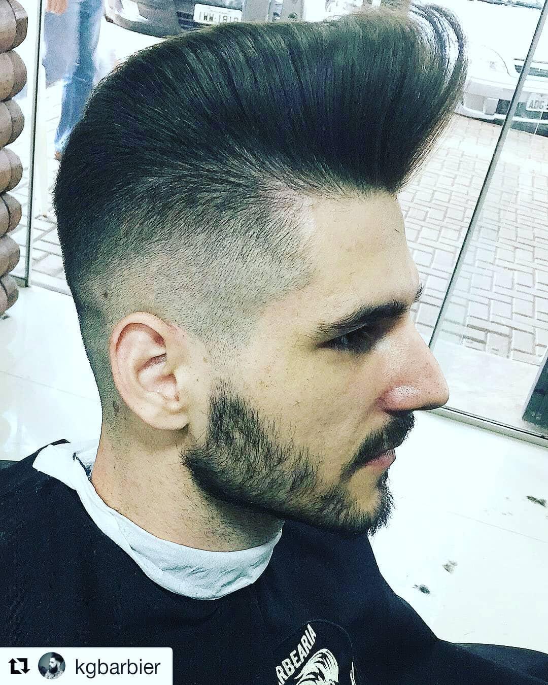 barbeariavelhotexas cool pomp fade pompadour fade haircut