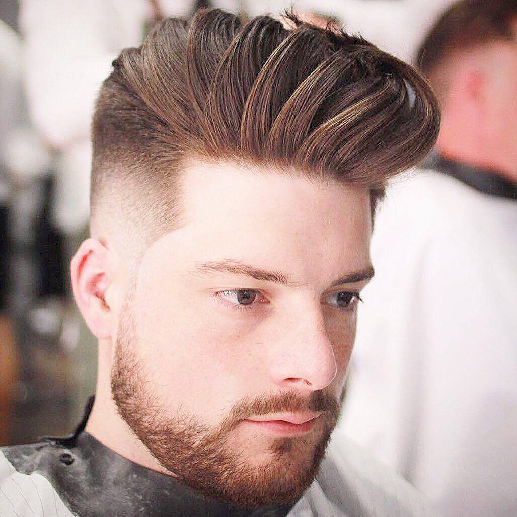 barber.josh.o.p cool short pompadour haircut
