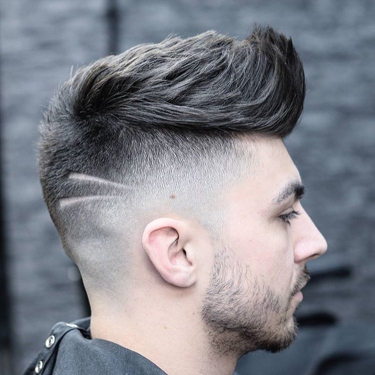 barberlessons_ cool spiky comb over fade haircuts spiky fade haircut