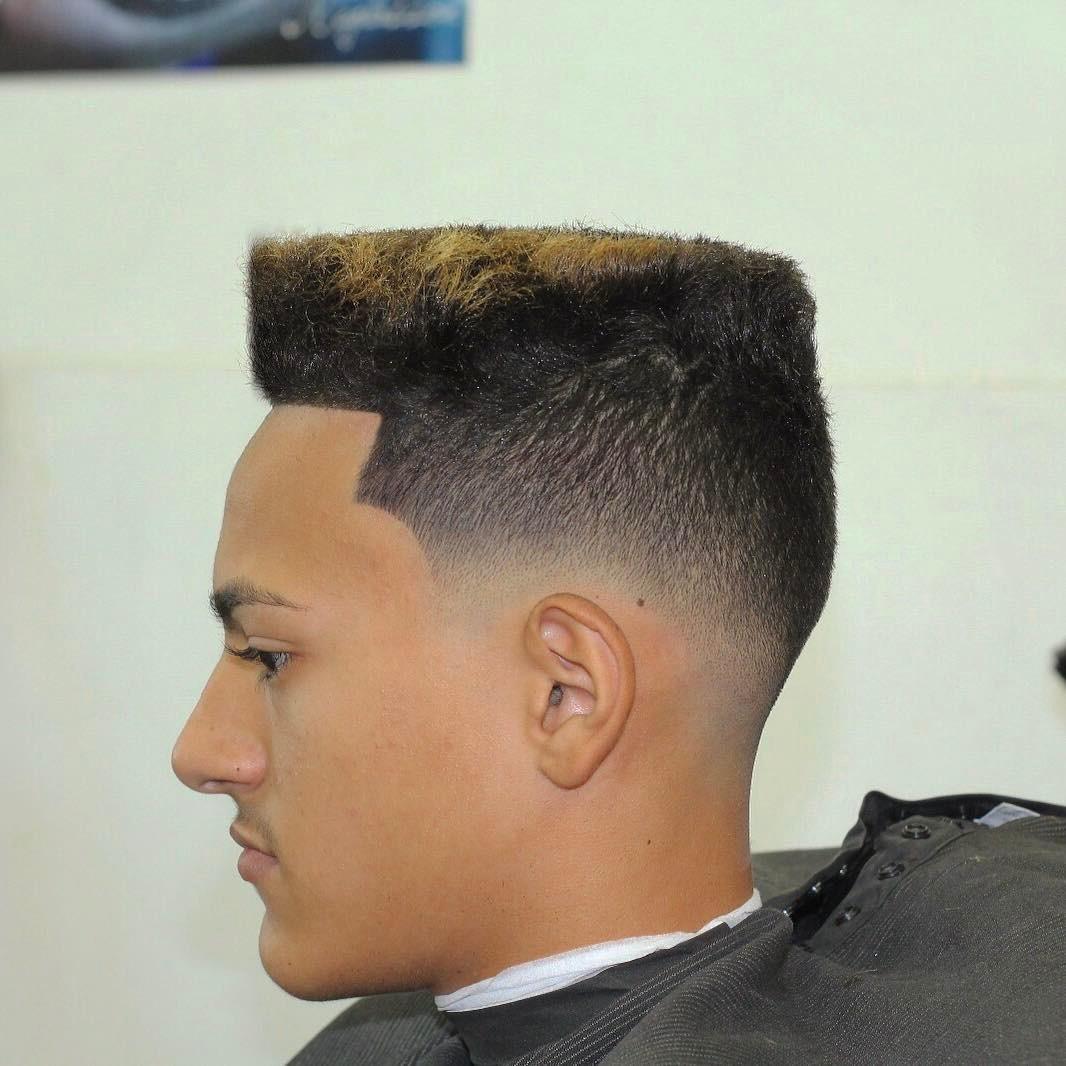 barbernathen box fade haircut low skin fade
