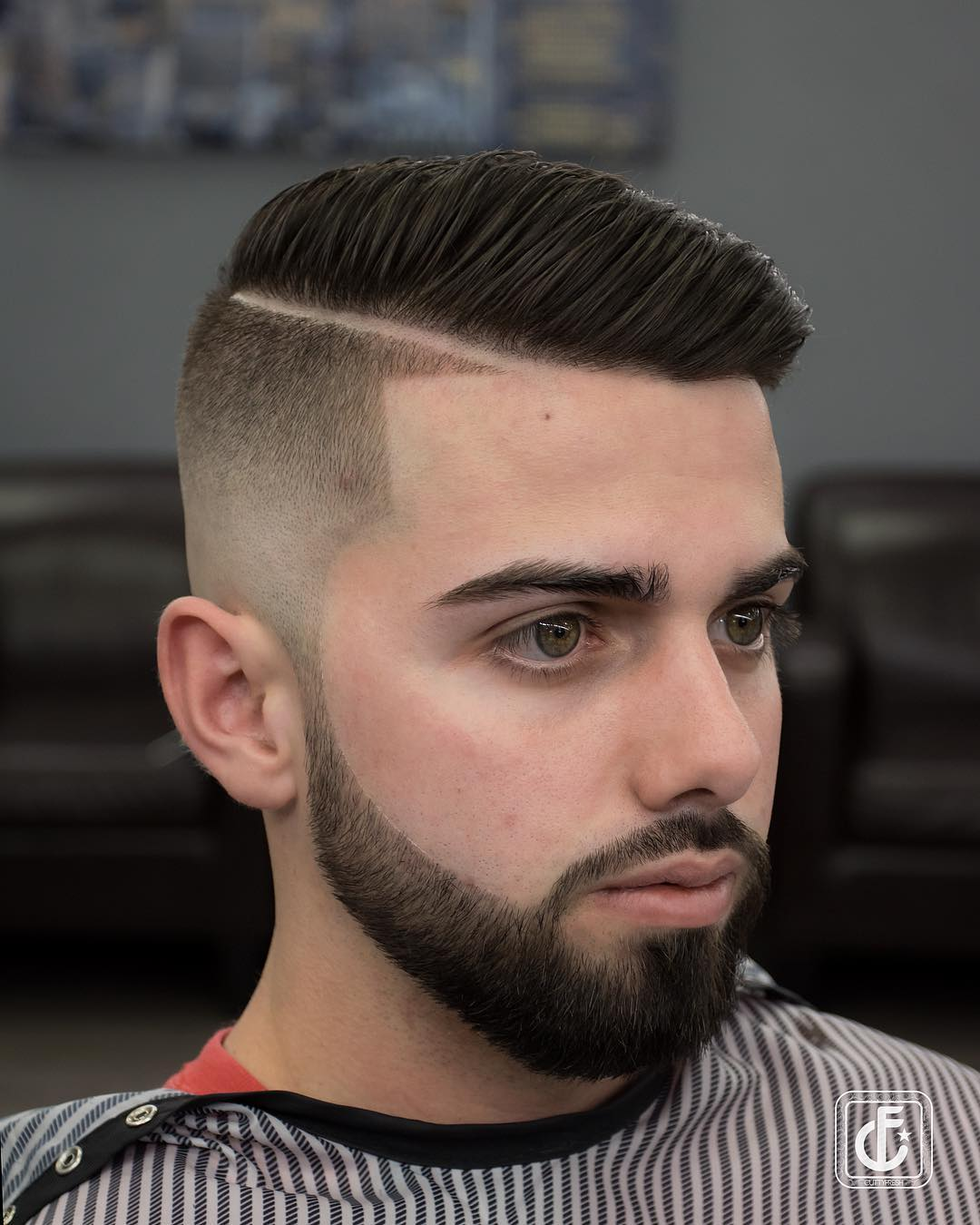 cuttyfresh cool comb over pompadour fade pompadour haircut