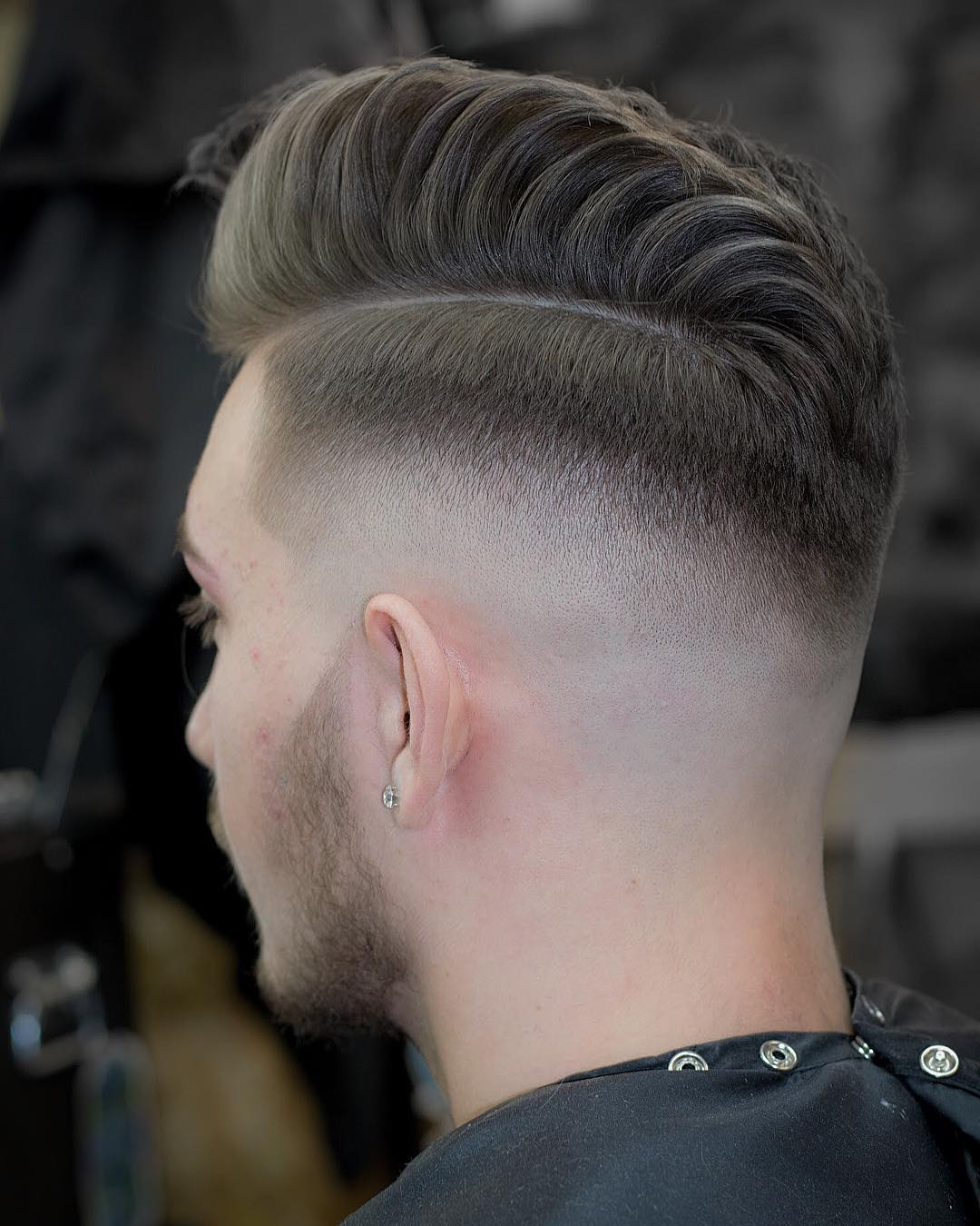jarredsbarbers High Fade pomp fade hairstyle high sniff
