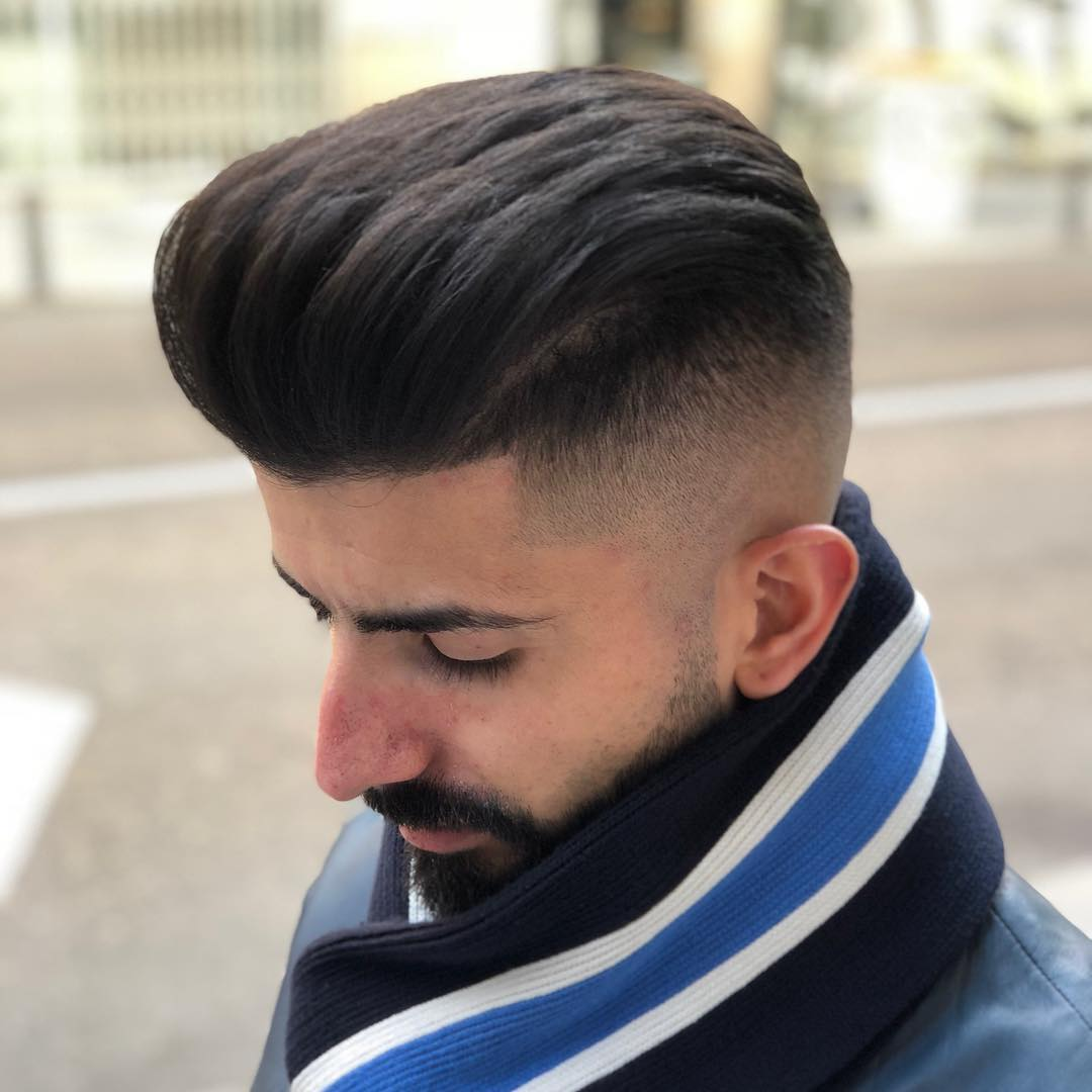 javi_thebarber_ latest mens fade haircuts with beard