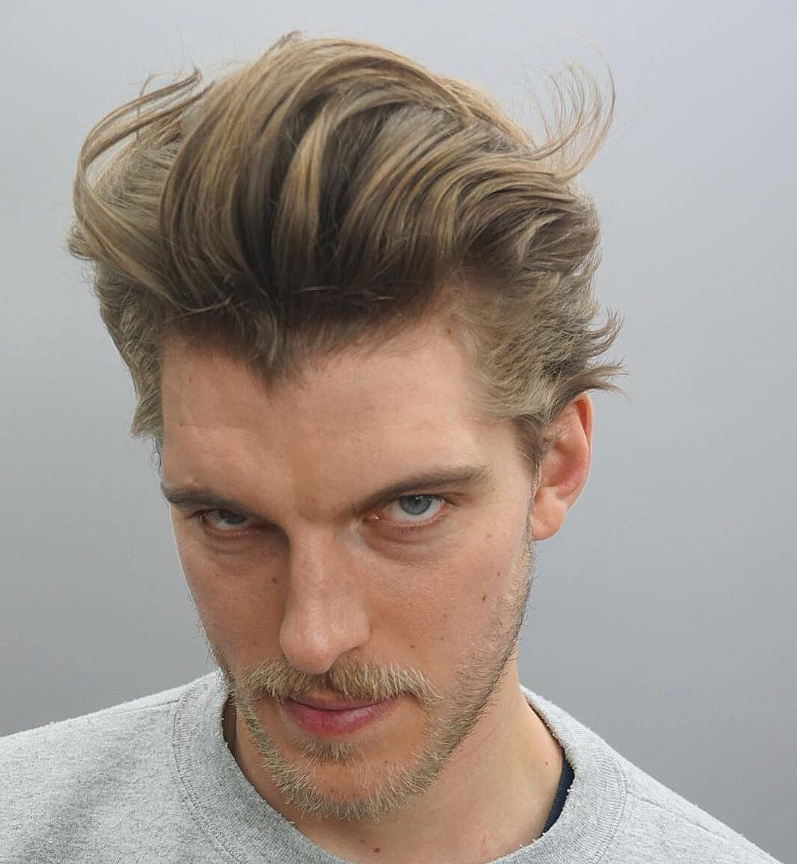 joshlamonaca new textured pompadour haircut