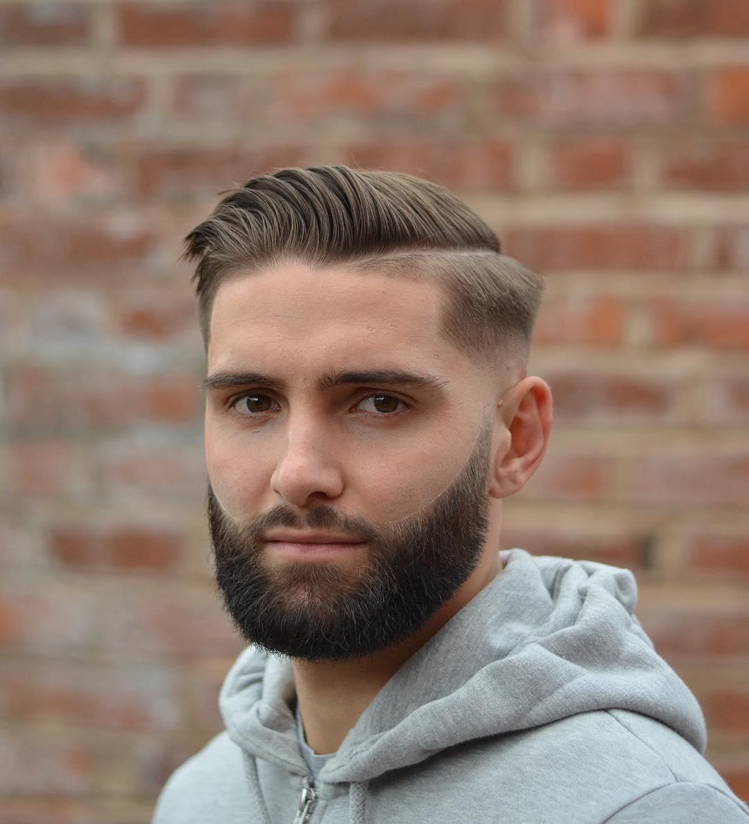 mattjbarbers comb over pompadour haircut