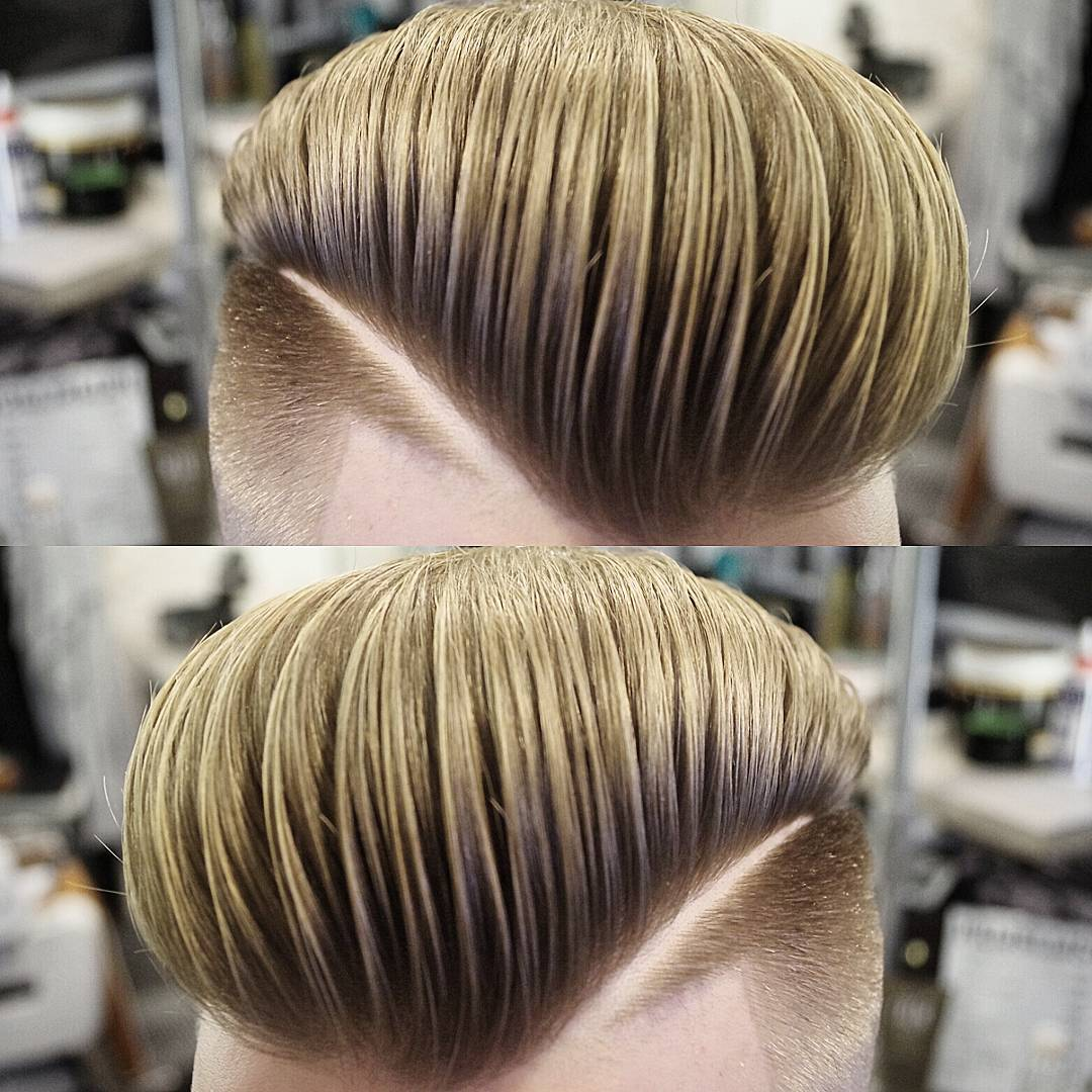 mensworldherenkappers massive pompadour haircut