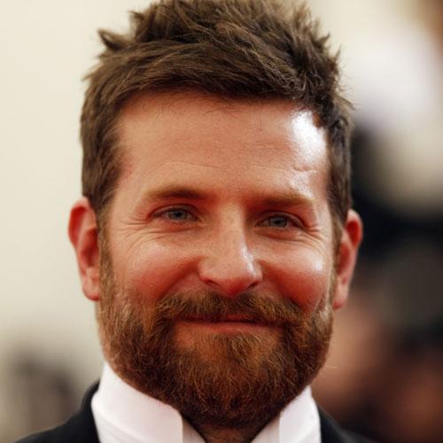 Bradley cooper beard short hair celebrity hairstyles for men