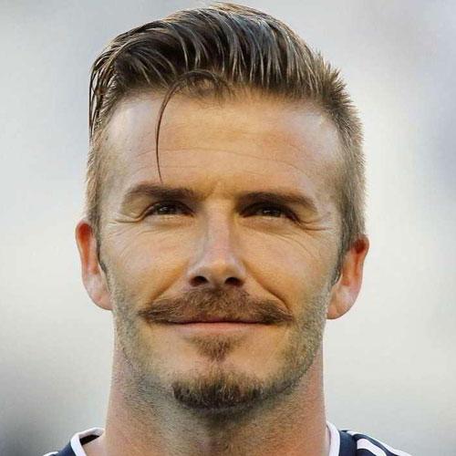 David Beckham haircut mustache celebrity hairstyles for men