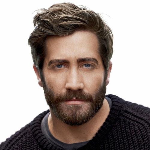 Jake Gyllenhaal haircut with beard celebrity hairstyles for men
