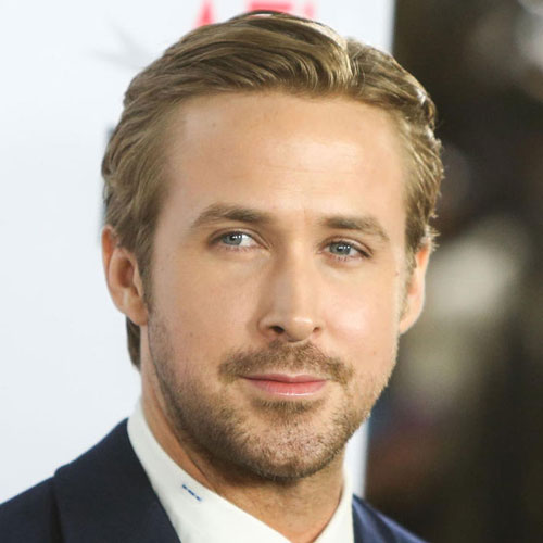 Ryan Gosling haircut slick back celebrity hairstyles for men