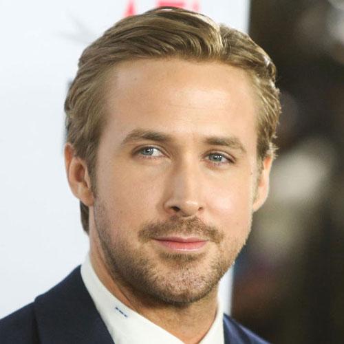 Ryan Gosling haircut slick back celebrity hairstyles for men