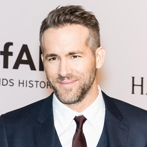 Ryan Reynolds haircut beard celebrity hairstyles for men
