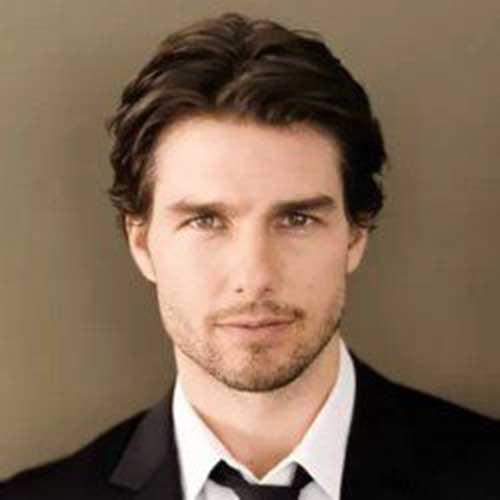 Tom Cruise haircut medium length celebrity hairstyles for men