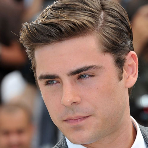 Zac Efron short hair textured cold hold celebrity hairstyles for men